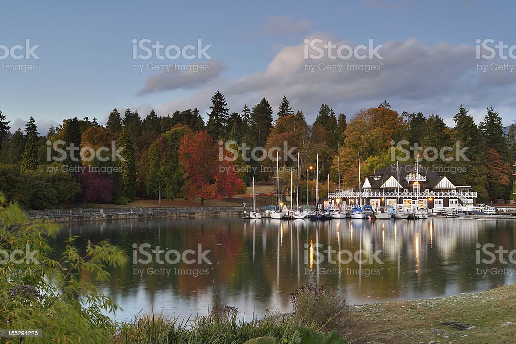 Vancouver Rowing Club in Stanley Park royalty-free stock photo
