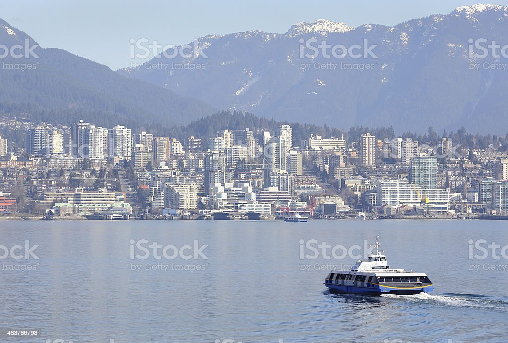 Vancouver Seabus, Burrard Inlet royalty-free stock photo