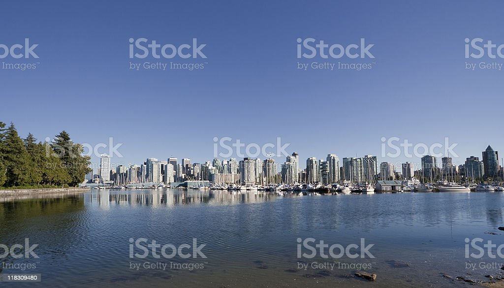 Vancouver Skyline and Coal Harbor royalty-free stock photo