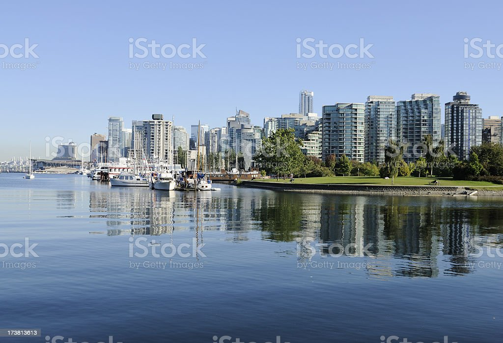 Vancouver Skyline and Coal Harbour royalty-free stock photo