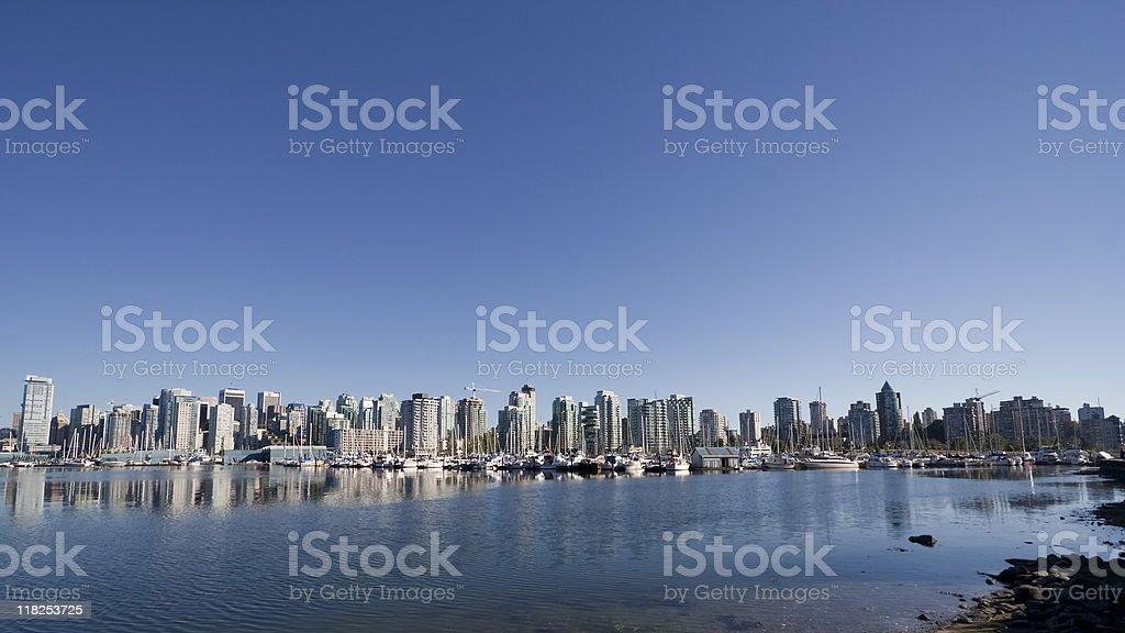 Vancouver Skyline and Marina royalty-free stock photo