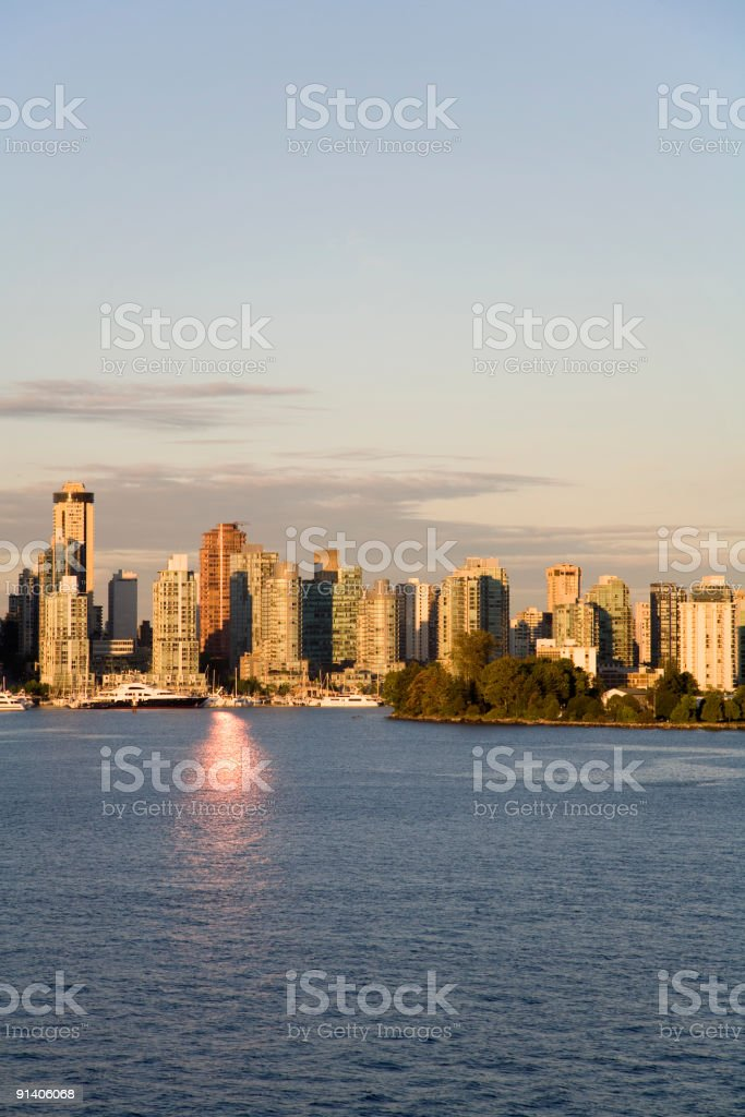 Vancouver Skyline at Dawn royalty-free stock photo