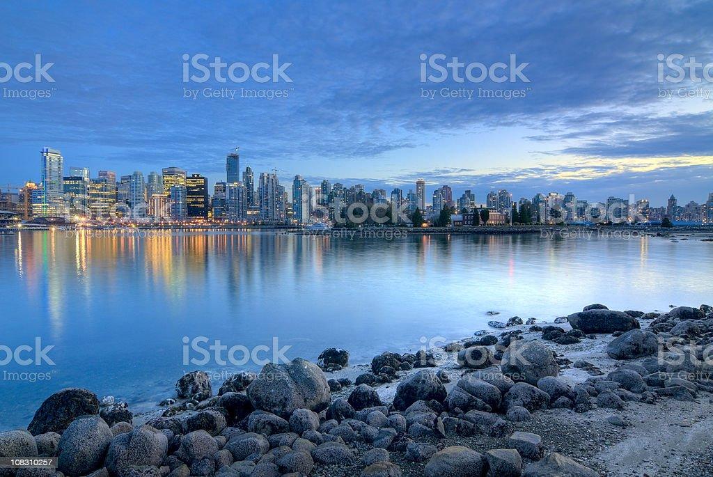 Vancouver Skyline at Dusk stock photo
