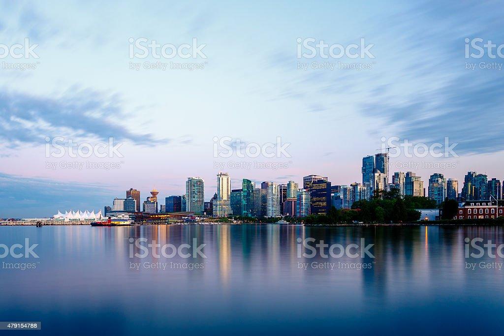 Vancouver Skyline at Sunset stock photo