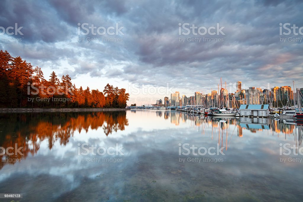 Vancouver Skyline at Sunset royalty-free stock photo