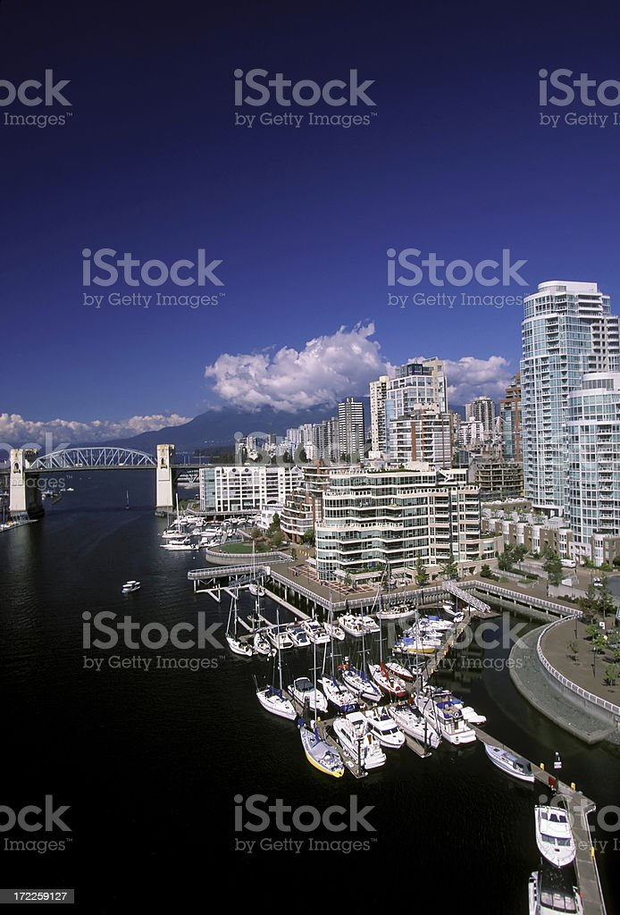 vancouver skyline false creek royalty-free stock photo