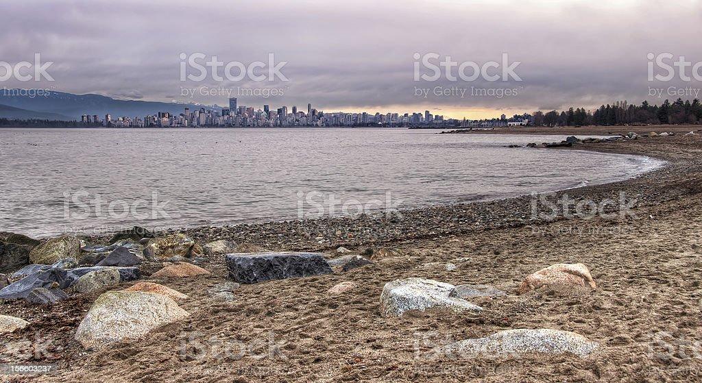 Vancouver Skyline From Jericho Beach royalty-free stock photo