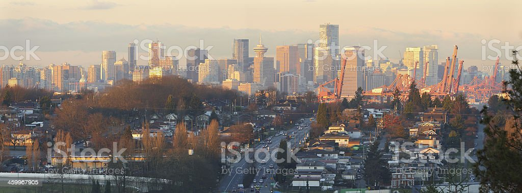 Vancouver Skyline Panorama Morning royalty-free stock photo