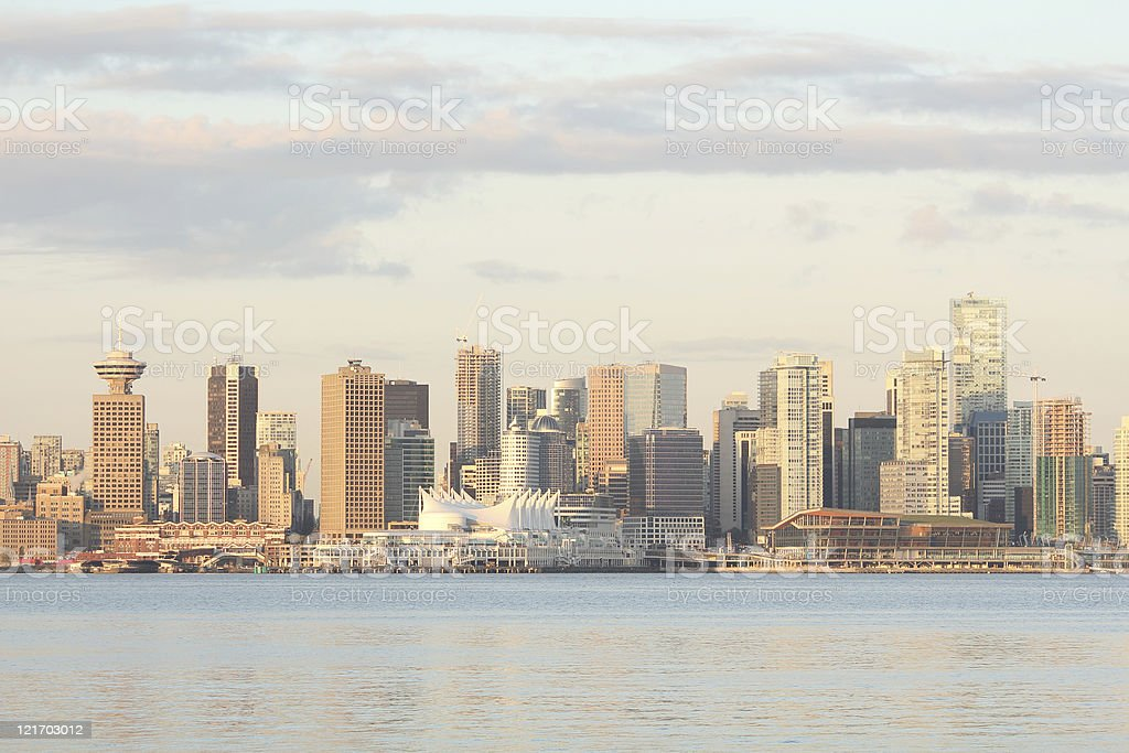 Vancouver Skyline, Trade and Convention Center stock photo