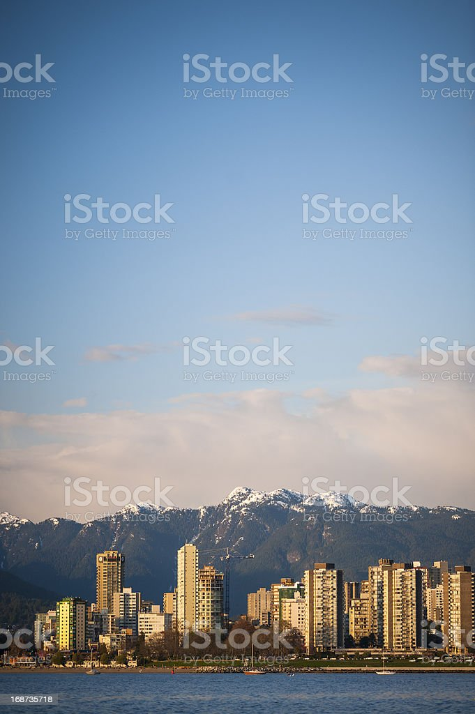 Vancouver Skyline With Mountains stock photo
