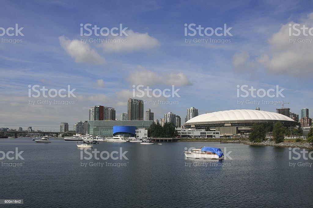 Vancouver Stadium and Casino royalty-free stock photo