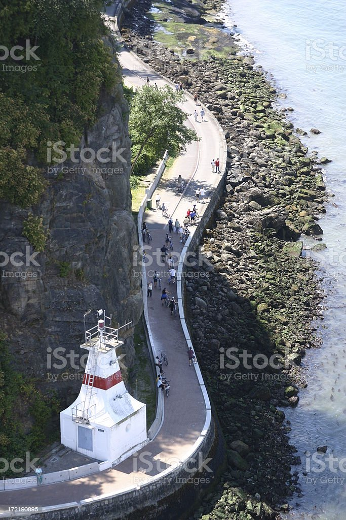 Vancouver: Stanley Park Seawall stock photo
