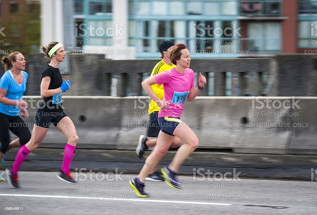 2013 Vancouver Sun Run stock photo