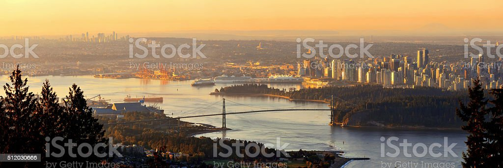 Vancouver sunrise stock photo