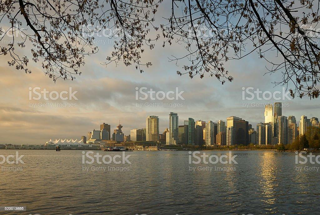 Vancouver Sunrise Skyline stock photo