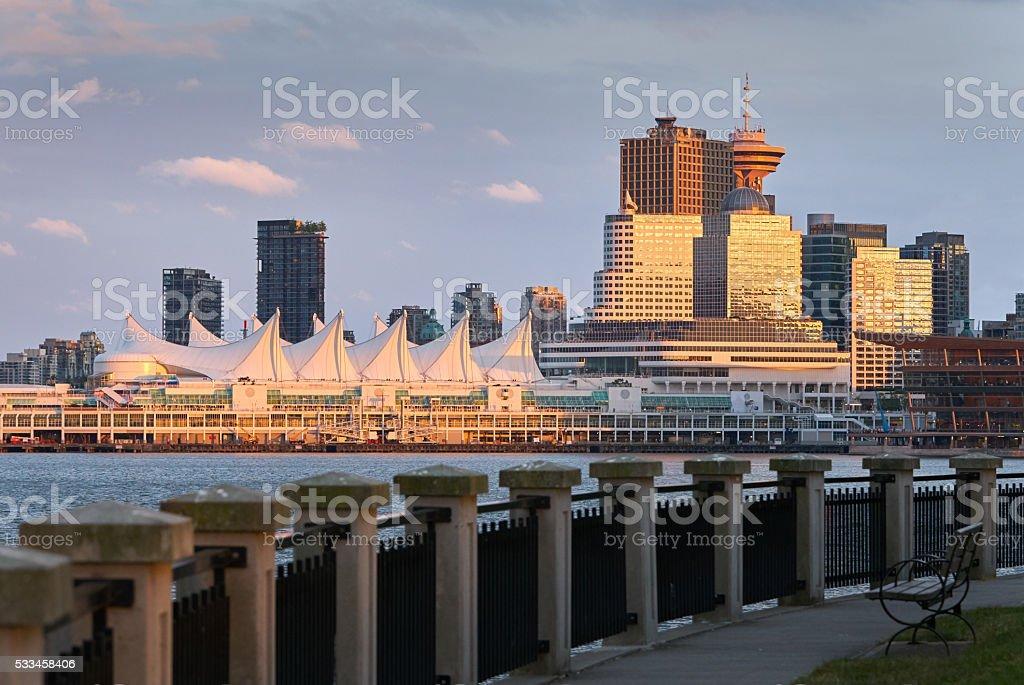 Vancouver Sunset Reflection stock photo