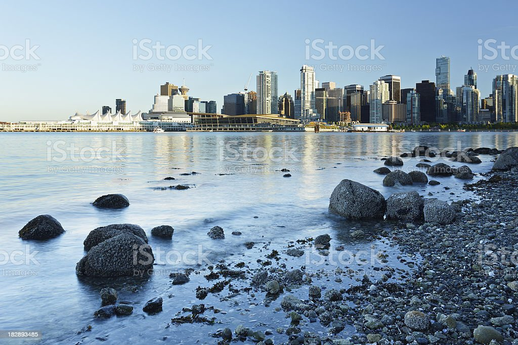 Vancouver Waterfront Skyline royalty-free stock photo