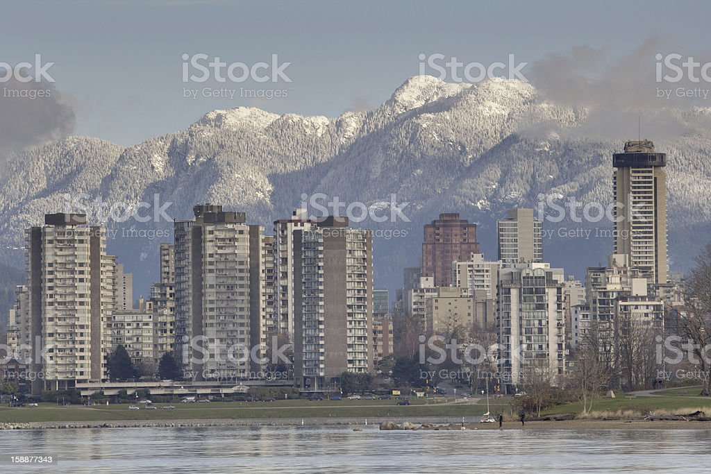 Vancouver West End Skyline stock photo