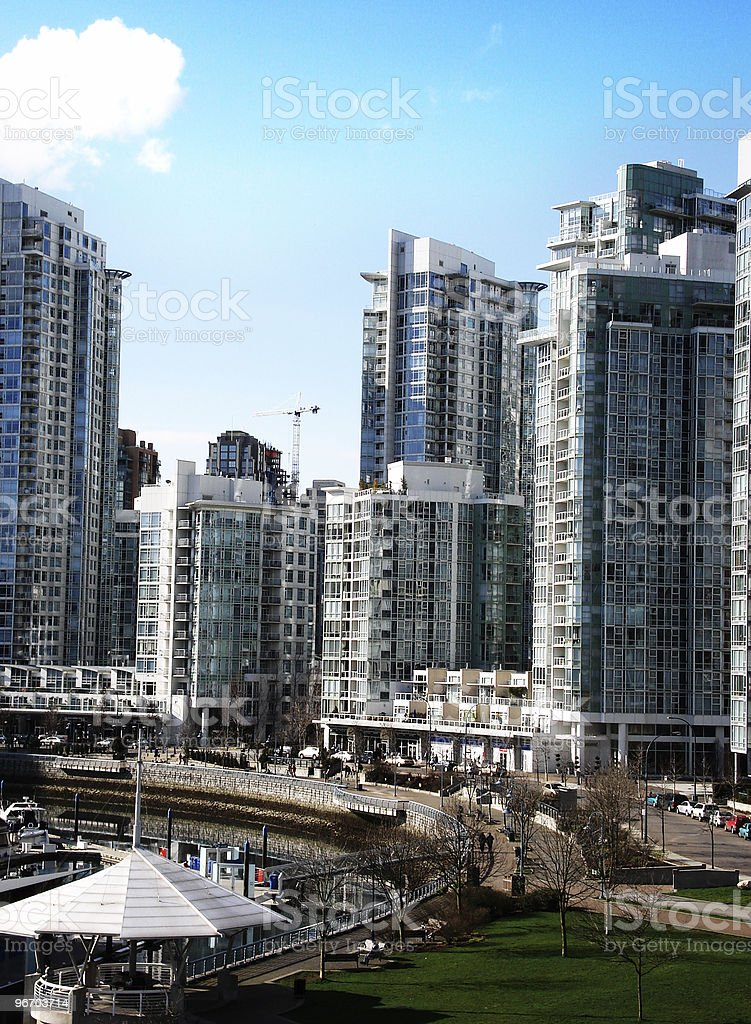 Vancouver - Yaletown Condo view royalty-free stock photo
