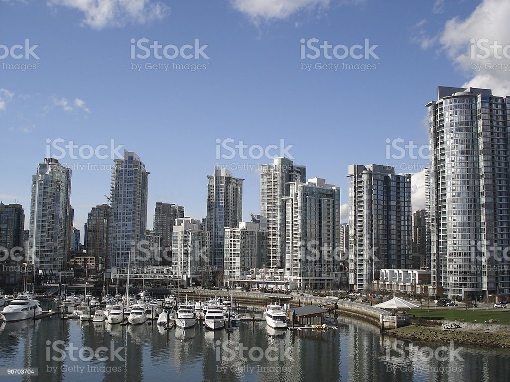 Vancouver - Yaletown Waterfront royalty-free stock photo