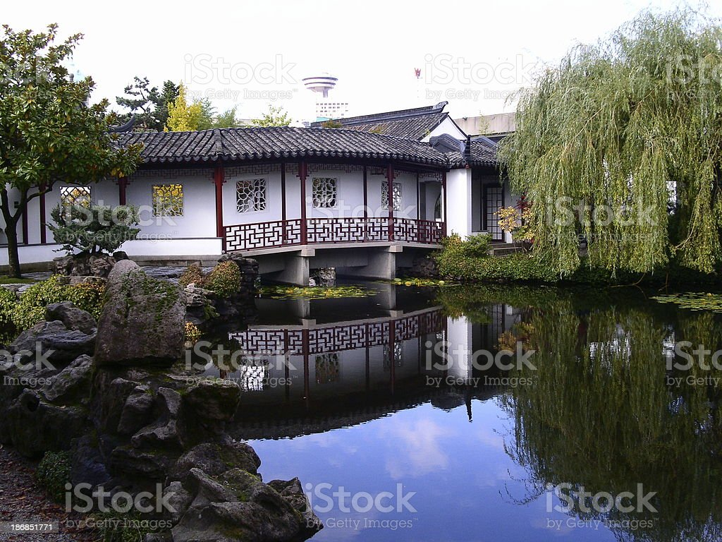 Vancouver_Chinatown Gardens stock photo