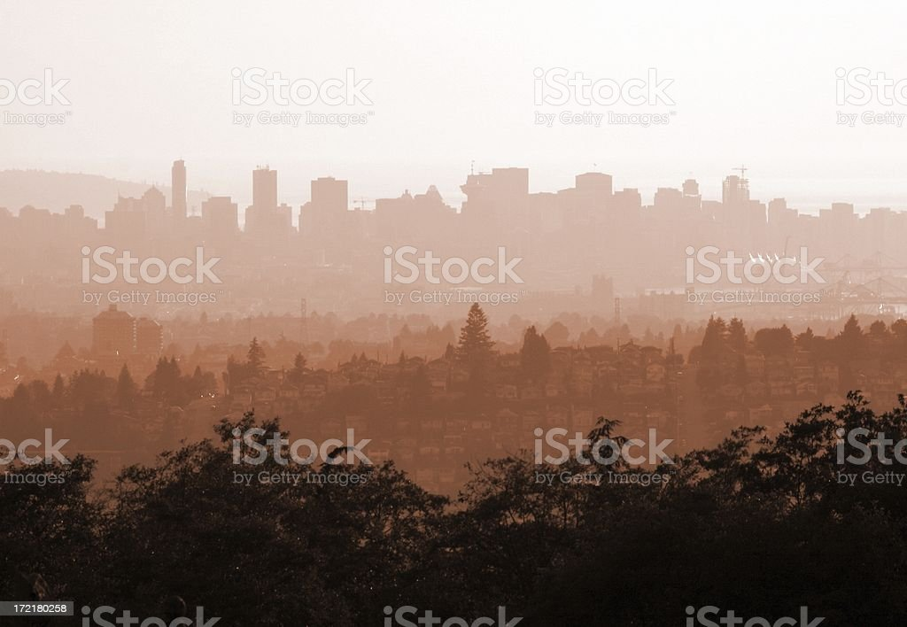 Vancouver_Smoggy Day stock photo