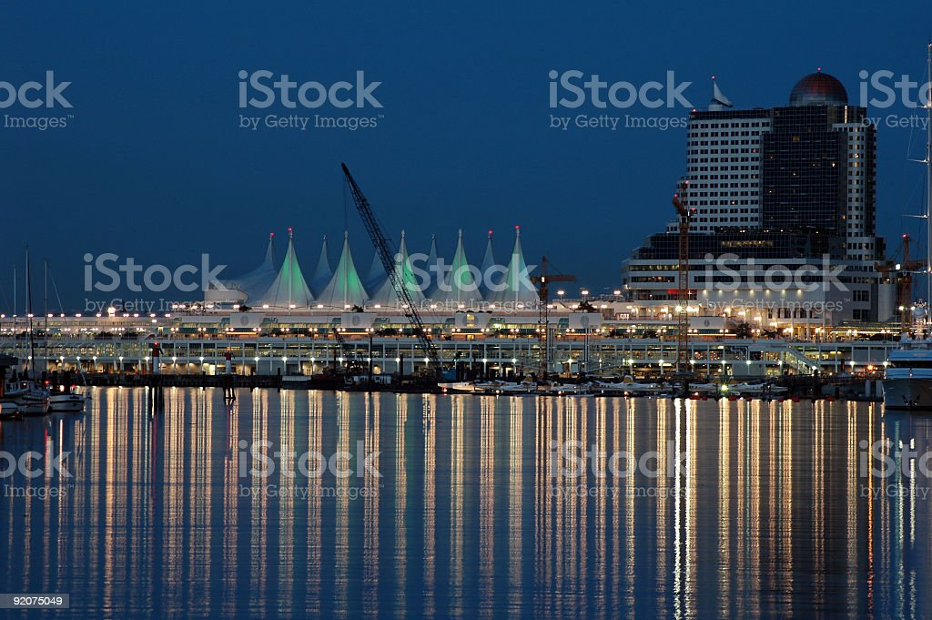 Vancouver's Canada Place at Dusk royalty-free stock photo