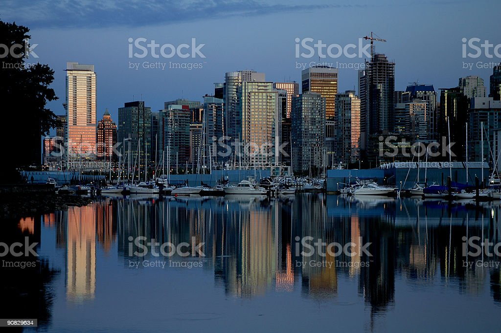 Vancouver's Coal Harbour royalty-free stock photo