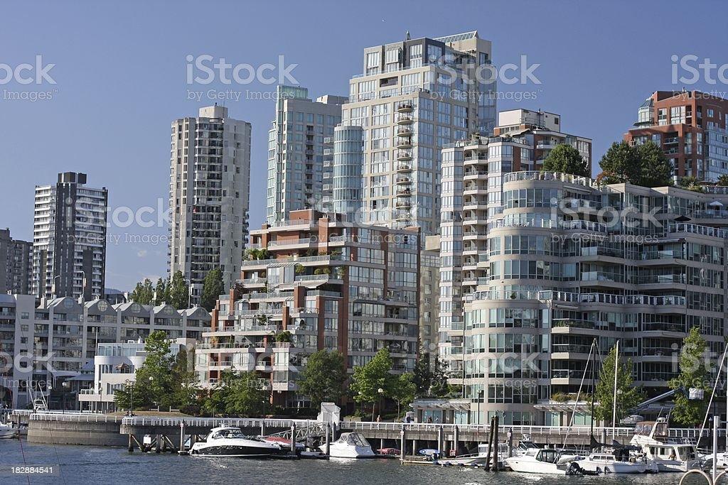 Vancouver's Condos by False Creek royalty-free stock photo