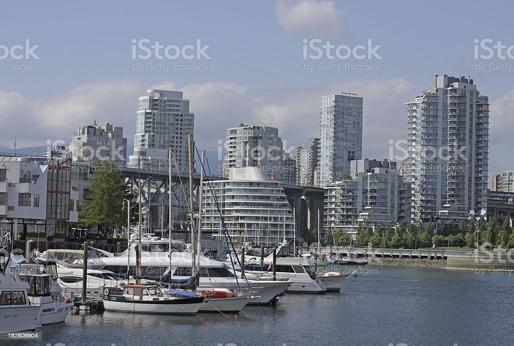 Vancouver's False Creek and Yaletown royalty-free stock photo