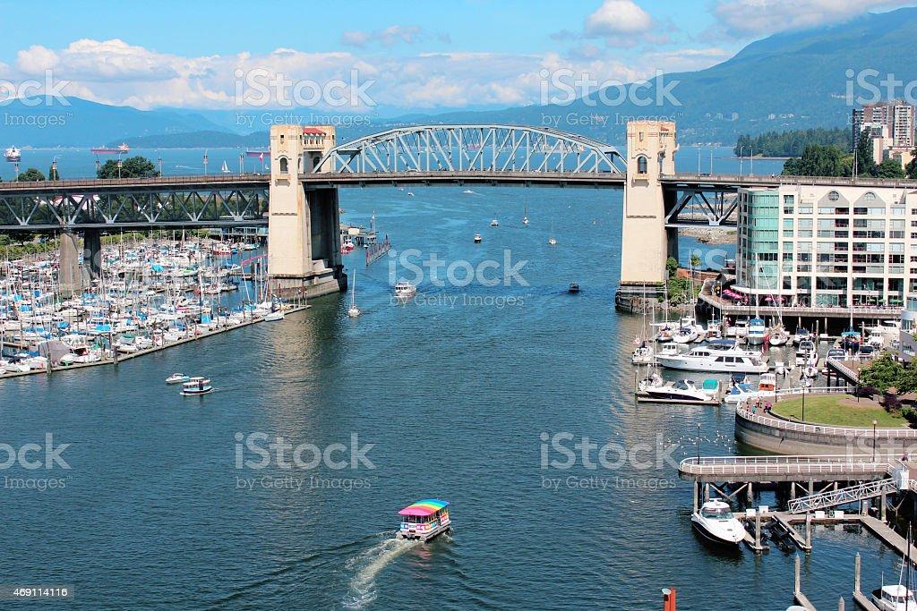 Vancouver`s False Creek stock photo