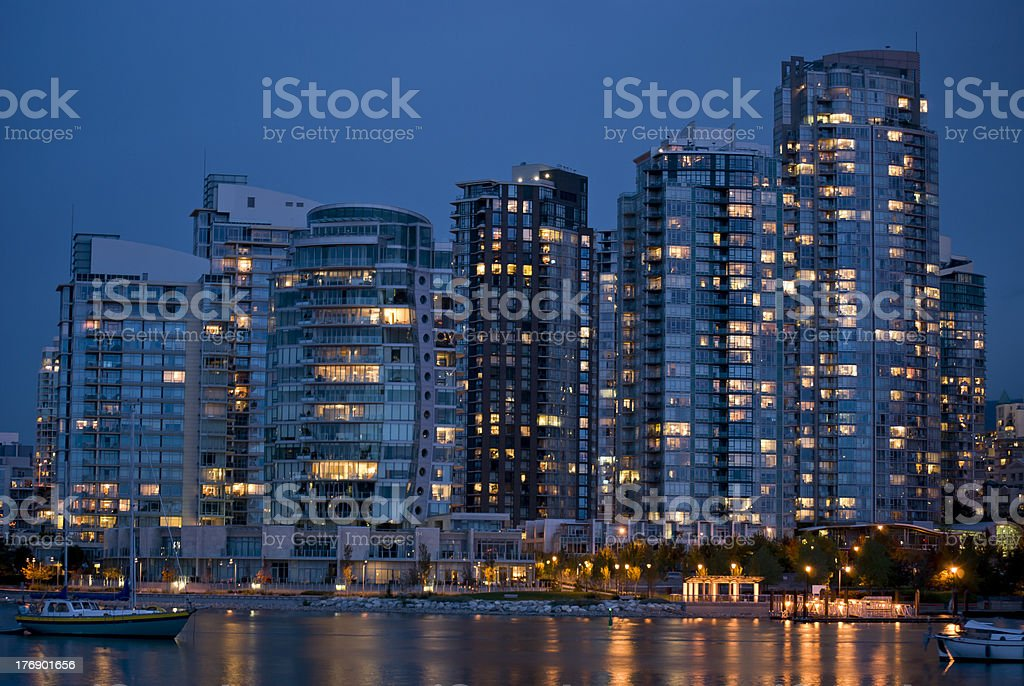 Vancouver's Yaletown at Dusk royalty-free stock photo