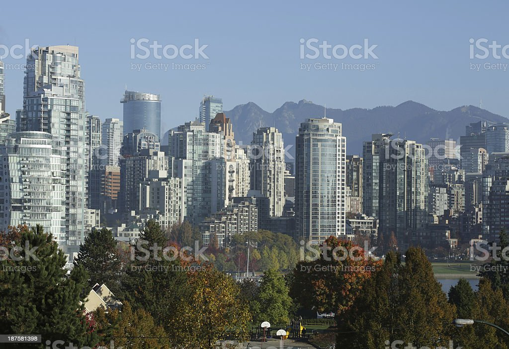Vancouver's Yaletown Residential Buildings in Autumn royalty-free stock photo
