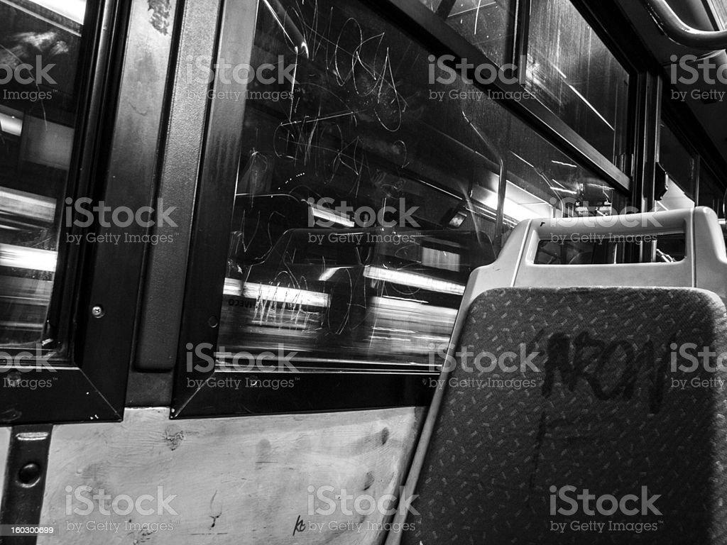 Vandalised Bus royalty-free stock photo