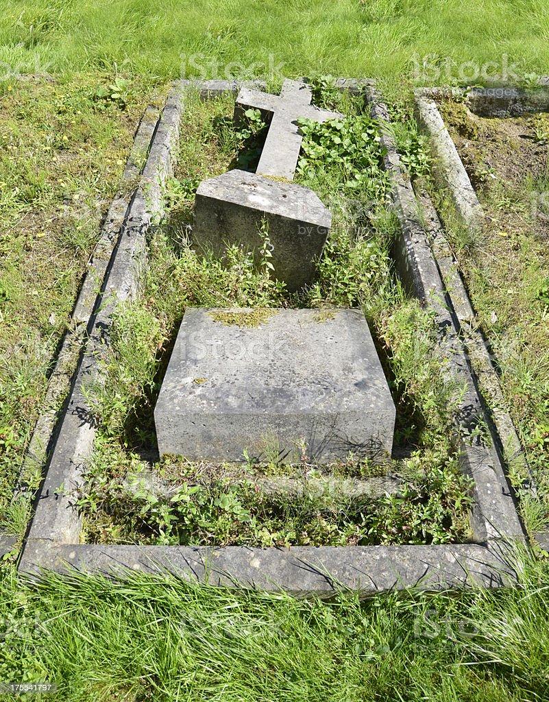 Vandalised Grave stock photo