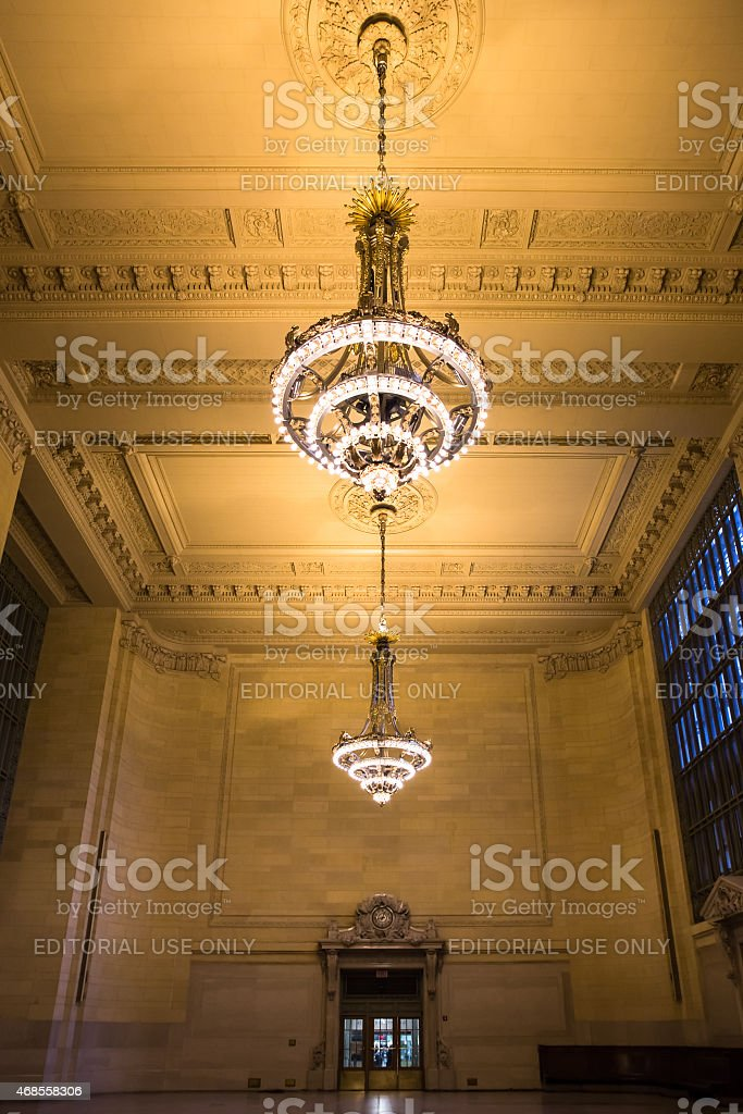 Vanderbilt Hall Grand Central Station stock photo