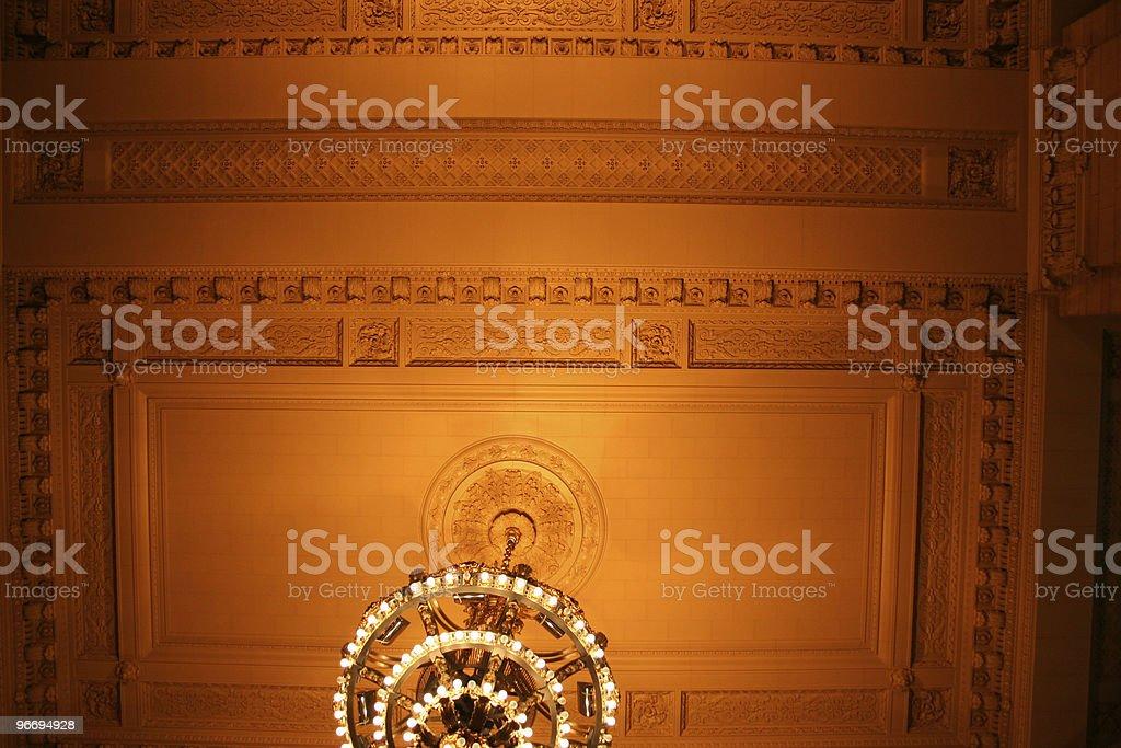 Vanderbilt Hall in Grand Central Station royalty-free stock photo
