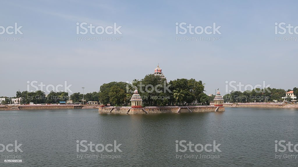 Vandiyur Mariamman Teppakulam lake, Madurai, India stock photo