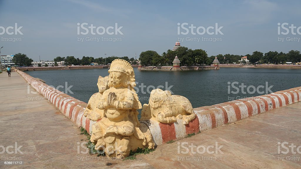 Vandiyur Mariamman Teppakulam Pond, Madurai, India stock photo