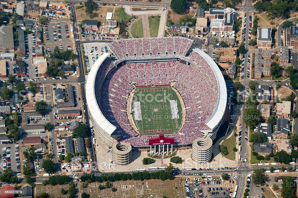 Vandy at Bryant-Denny Stadium in Tuscaloosa stock photo