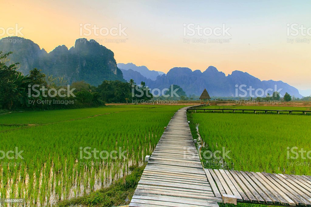 Vang Vieng Resort, Laos stock photo