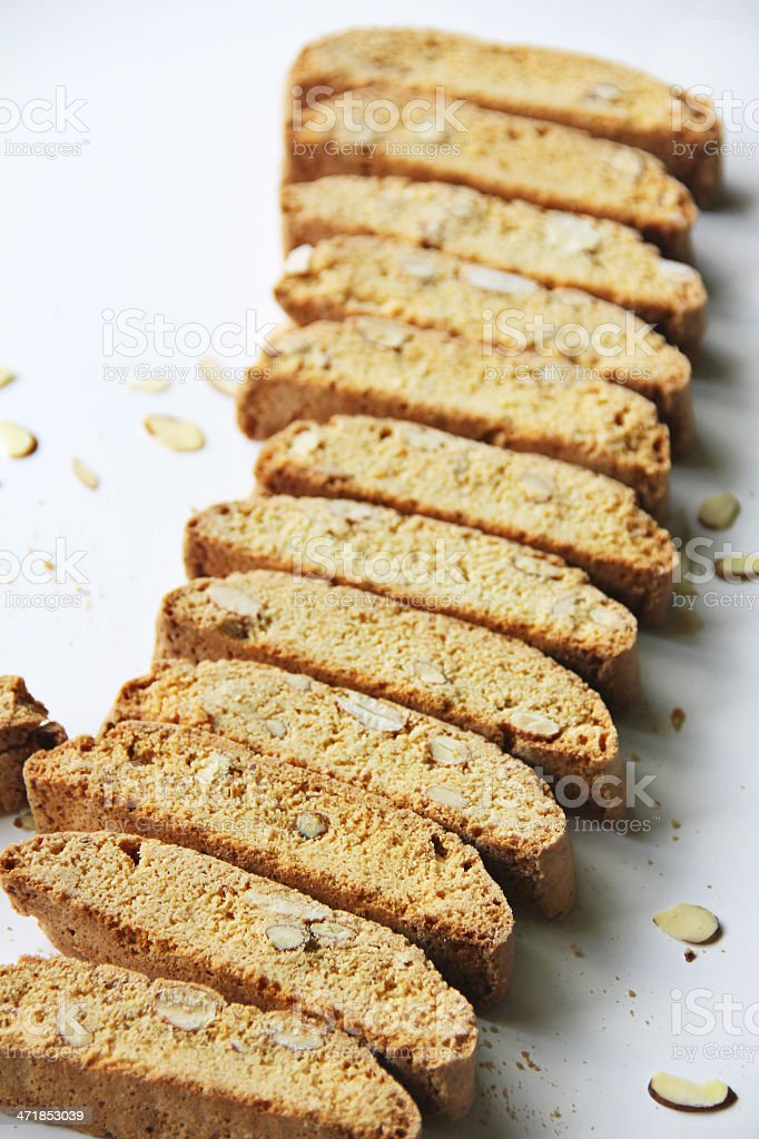Vanilla Almond Biscotti Cookie royalty-free stock photo