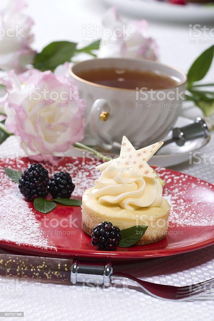 Vanilla Bean Cheesecake royalty-free stock photo