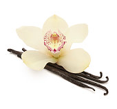 Vanilla Beans and Orchid (with path)