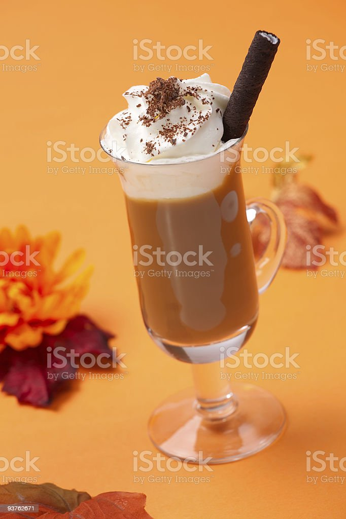 Vanilla Chocolate Chip  Cocktail - Coffee Warmers royalty-free stock photo