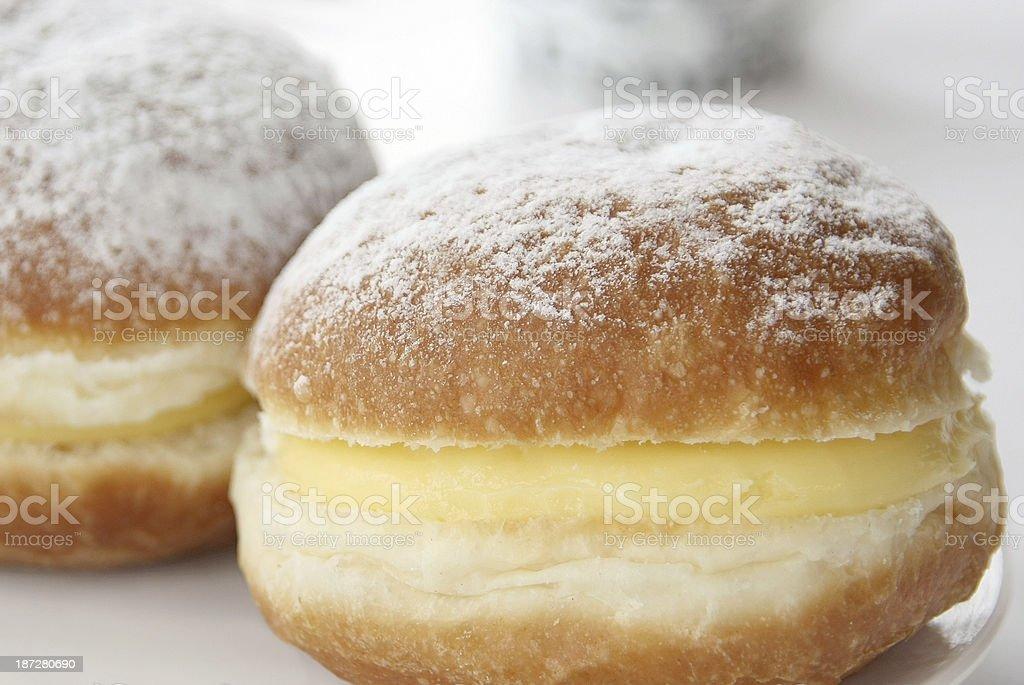 vanilla cream Berliner stock photo