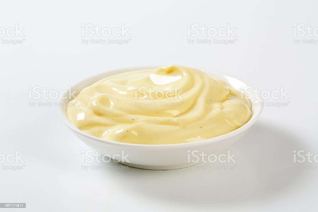 vanilla cream stock photo