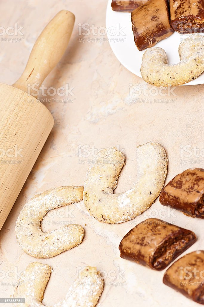 Vanilla Crescents and Ginger Snaps stock photo