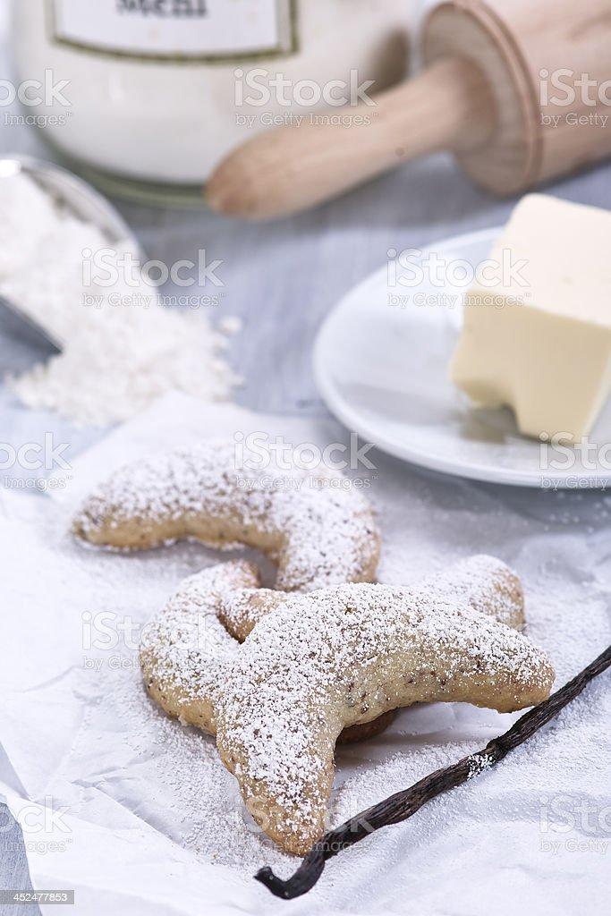 vanilla croissants stock photo