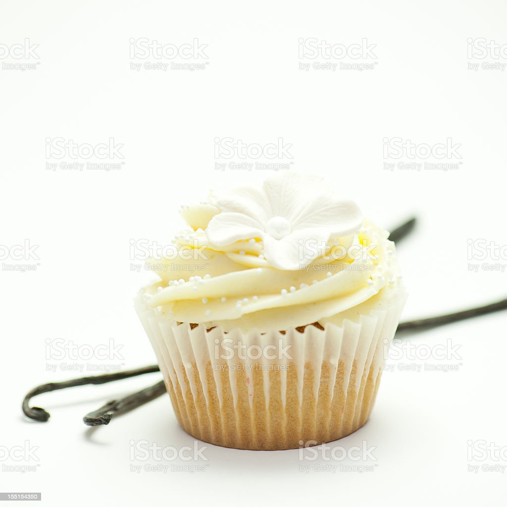 Vanilla Cupcake royalty-free stock photo